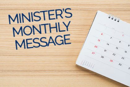 Minister's Monthly Message