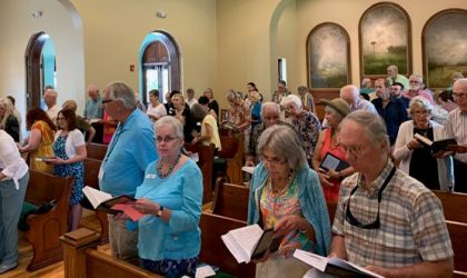 congregation at the church